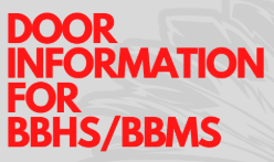 Door Information for BBHS/BBMS