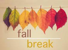 No School October 21st-23rd for Fall Break